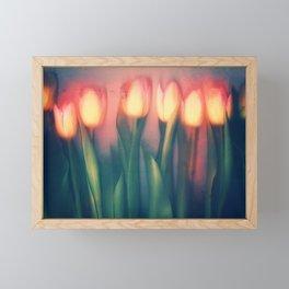 Tulips Yellow Framed Mini Art Print