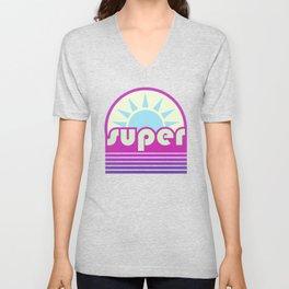 super duper ultraviolet Unisex V-Neck