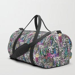 Gemstone Cats CYMK Duffle Bag