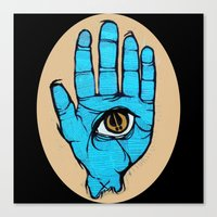 third eye Canvas Prints featuring third eye by Deerabigale