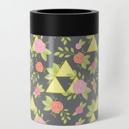 Garden of Power, Wisdom, and Courage Pattern in Grey Can Cooler