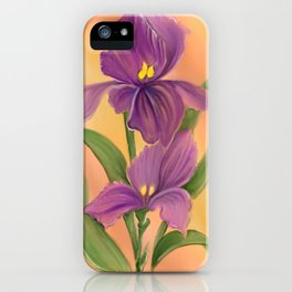 Purple Iris in warm sunshine iPhone Case