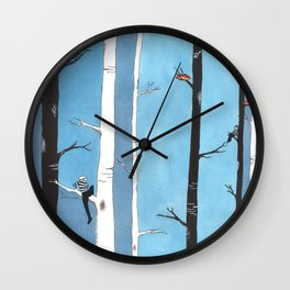 Burglars and Me Wall Clock