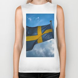 Swedish national flag Biker Tank