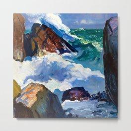 George Bellows Sunlit Surf Metal Print