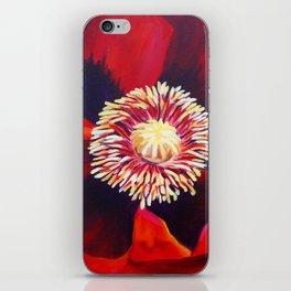 Big Red Poppy iPhone Skin