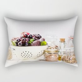 fruits, vegetables, grains, legumes and nuts Rectangular Pillow