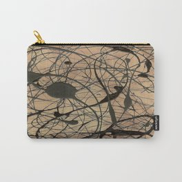 Pollock Inspired Cool Abstract Splatter Drip Painting Carry-All Pouch