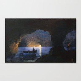 Azure Grotto, Naples - Aivazovsky Canvas Print