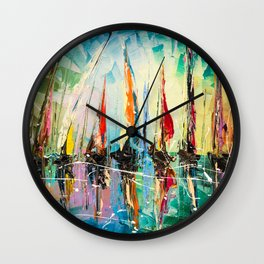 BEFORE REGATTA Wall Clock