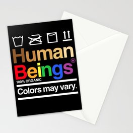 Human rights rainbow equality LGBT PRIDE BLACK LIVES MATTER Stationery Cards