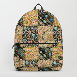 Crazy Crazy Printed Patchwork Backpack