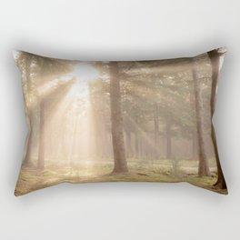 Sunrise forest - North Kessock, The Highlands, Scotland Rectangular Pillow
