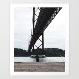 Calm under the bridge Art Print