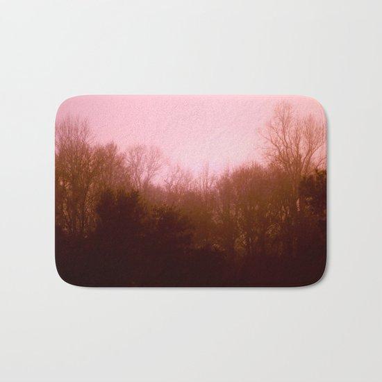 Pink Tree 3 Bath Mat