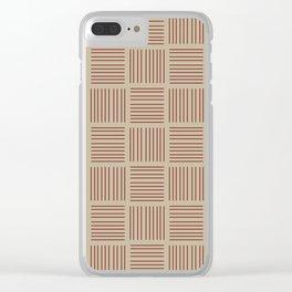 Spirit Desert Stripe - Red Clear iPhone Case