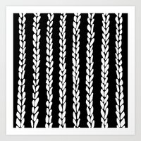 knit Art Prints featuring Knit 8 by Project M
