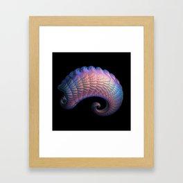 3D Fractal Curl Framed Art Print