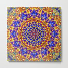 Fourteenth Mandala Of Life For A Rosy Spring Metal Print
