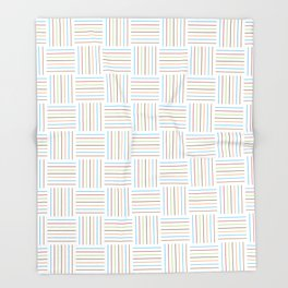 Bright and Light Festive Weave Throw Blanket