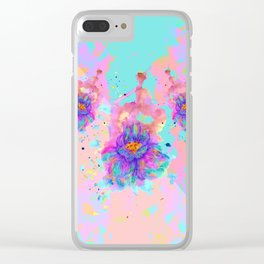 Colorful Watercolor Flower Clear iPhone Case