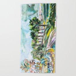 Charleston Pineapple Fountain Beach Towel