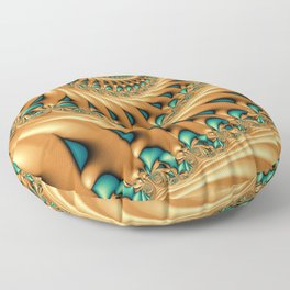 Fractal Splendor, Modern 3D Art Floor Pillow
