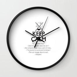Pas enceinte ? Keep calm ! Wall Clock