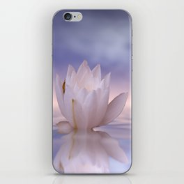 the lonely water lily iPhone Skin