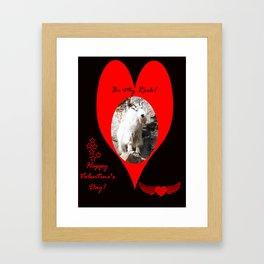 Happy Valentine's Day - Be My Rock Framed Art Print