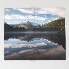 Bear Lake - Rocky Mountain National Park Throw Blanket