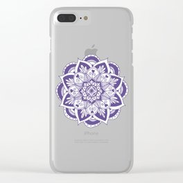 Ultraviolet Flower Mandala Clear iPhone Case
