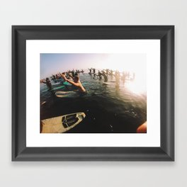 UCSB memorial paddle out Framed Art Print