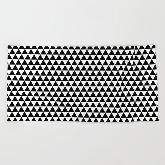 Triangles (Black/White) Beach Towel