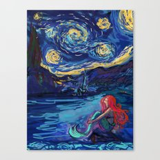 Starry Starry Night meets Mermaid Canvas Print