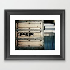 Industrial Numbers Framed Art Print