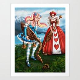 Steampunk Gothic Lolita Alice Croquet Art Print