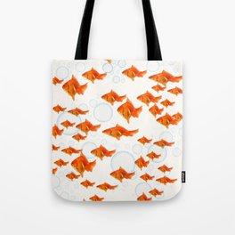 ABSTRACT GOLD FISH SWIMMING ART  DESIGN Tote Bag