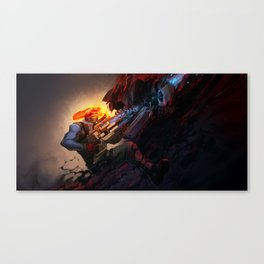 Battle from sights Canvas Print