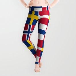 Flags of scandinavia2: finland, denmark,swede,norway Leggings