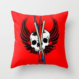 DRUM OR DIE! RED Throw Pillow