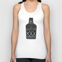alcohol Tank Tops featuring Alcohol Bottle xxx by matteolasi