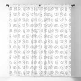 Nautilus Shell Print Blackout Curtain