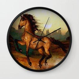 HORSES-Prairie dancer Wall Clock