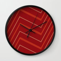 Energy in Red Wall Clock