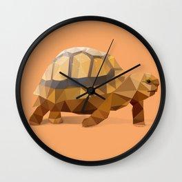 Low Poly Hermann's Tortoise Wall Clock