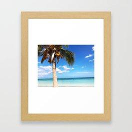 Pardise beach palm Framed Art Print