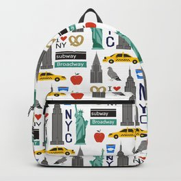 NYC travel pattern fun kids decor boys and girls nursery new york city theme Backpack