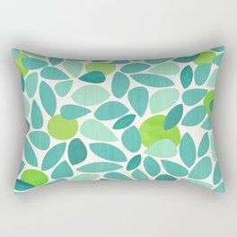Mid Century Lime Tree Rectangular Pillow