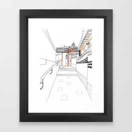 Bukchon in Seoul Framed Art Print